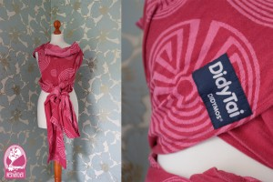 Didytai Labyrinth rosa Wrap Con Conversion Trageberatung Nesthäkchen